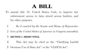 Cloud Act Bill