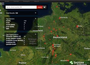 Hack Vorbereitung: Karte mit potentiellen Ziel-Systemen in Deutschland
