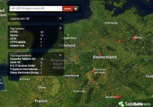 Hack Vorbereitung: Karte mit veralteten Systemen in Deutschland